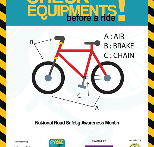 CHECK EQUIPMENTS BEFORE A RIDE